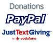 Donate now using PayPal or Vodafone